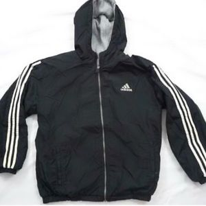 ADIDAS Boys Reversible Jacket Black/Grey